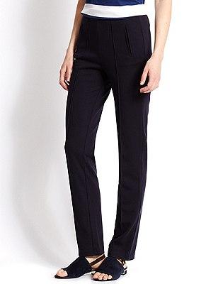 Ponte Straight Leg Trousers, NAVY, catlanding