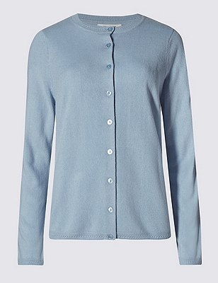 Button Through Cardigan, CORNFLOWER, catlanding