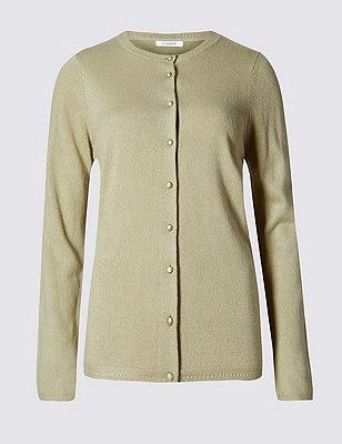 Button Through Cardigan, LIGHT KHAKI, catlanding