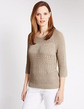 3/4 Sleeve Stitch Jumper