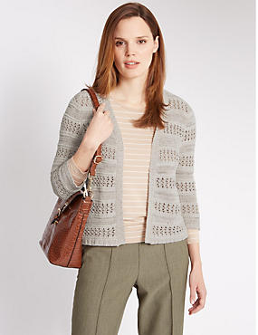 Open Front Tape Cardigan