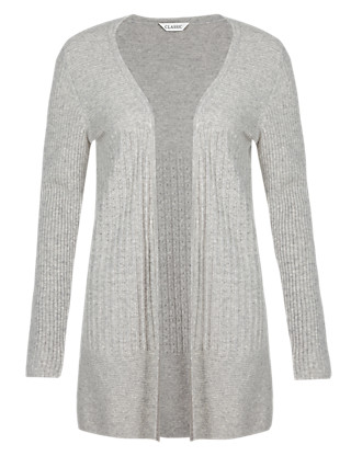 Pure Cashmere Pointelle Ribbed Long Cardigan Clothing