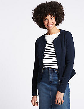 Textured Bomber Jacket, NAVY, catlanding
