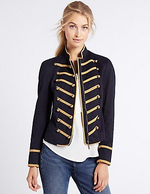Cotton Rich Jacket, NAVY MIX, catlanding