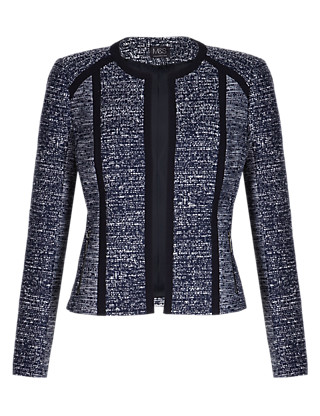 Open Front Tweed Jacket Clothing