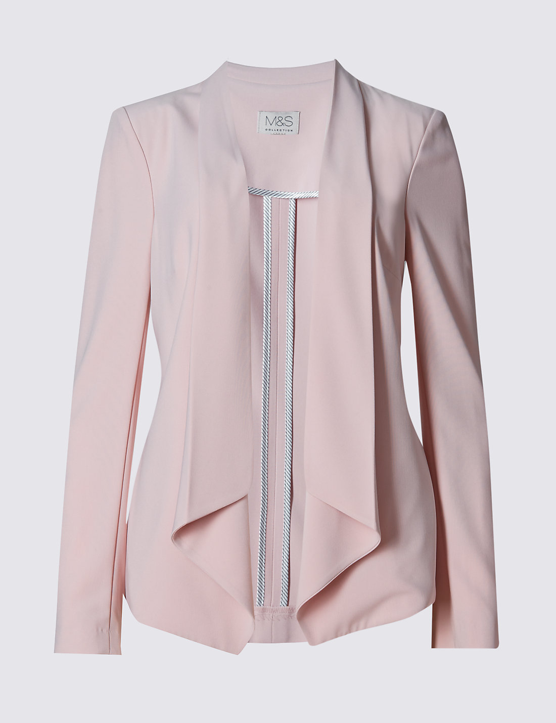 Open Front Zipped Sleeve Waterfall Jacket | M&S