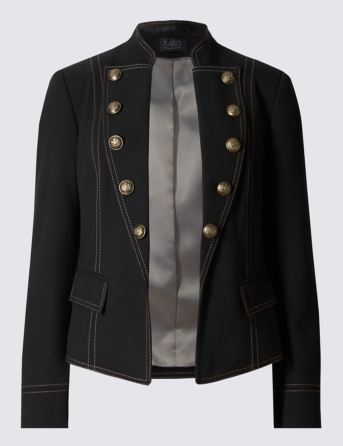 Military Button Jacket | M&S