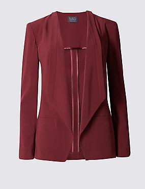 Long Sleeve Jacket, CLARET, catlanding
