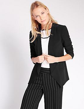 Long Sleeve Jacket, BLACK, catlanding