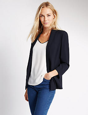 Turn Back Cuff  Jacket, NAVY, catlanding