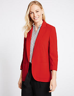 Patch Pocket Jacket, BRIGHT RED, catlanding