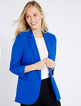 Patch Pocket Jacket, BLUE, catlanding