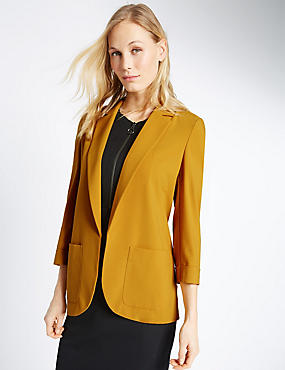 Patch Pocket Jacket, DARK GOLD, catlanding