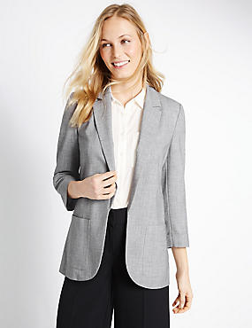 Patch Pocket Jacket, GREY MARL, catlanding
