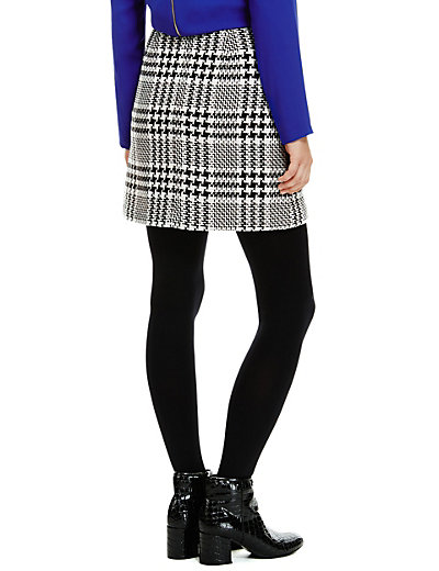 Prince of Wales Checked Mini Skirt with Wool | M&S