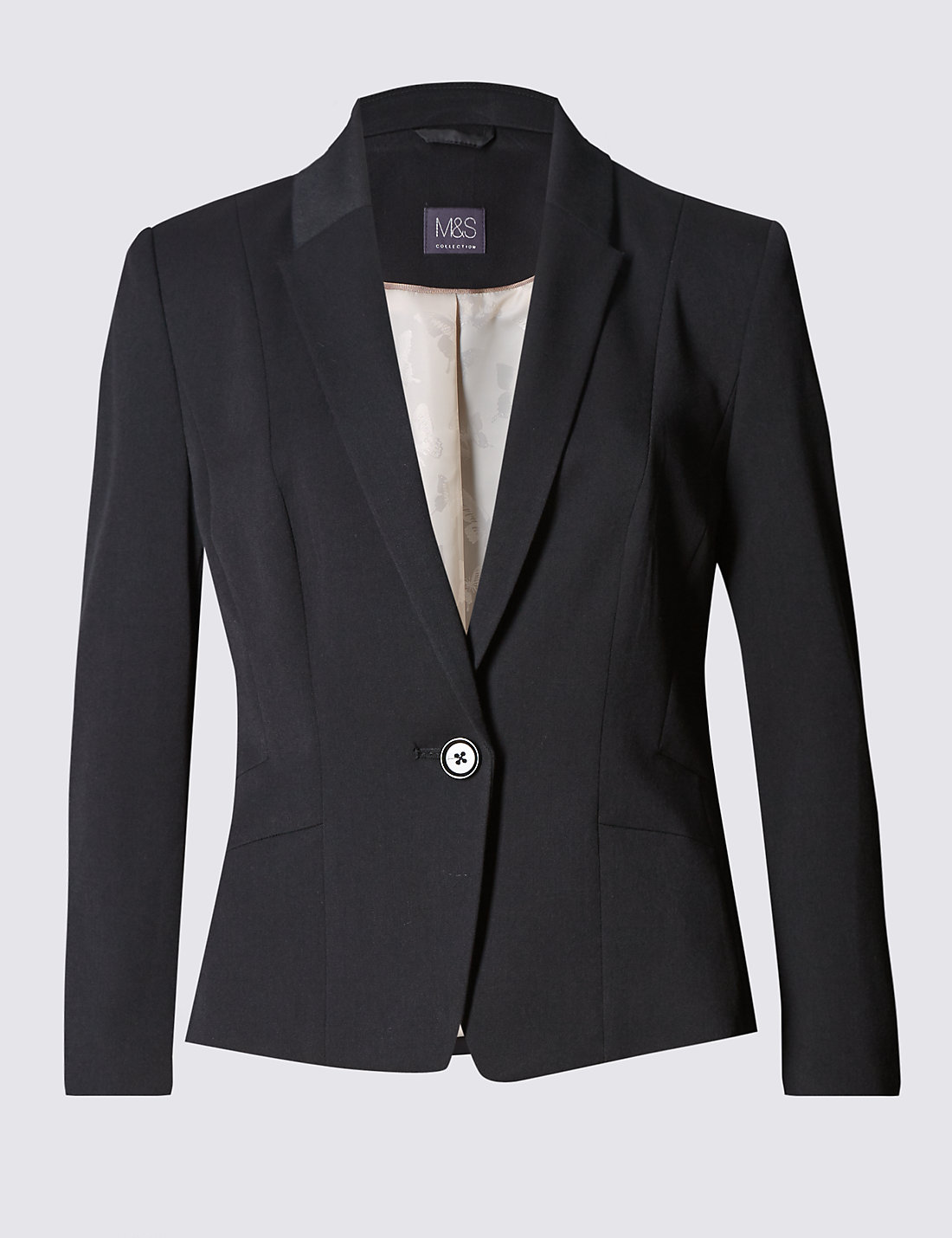 Mens jacket marks and spencer - 1 Button Staggered Seam Blazer