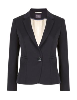 Короткий пиджак Buttonsafe™ с одной пуговицей и прорезными карманами