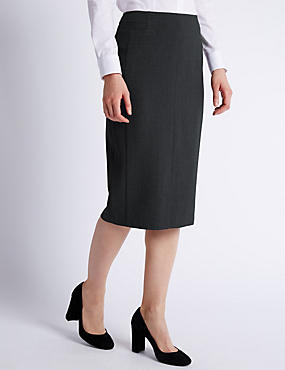 Welt Pockets Pencil Skirt