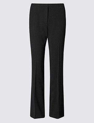 Panelled Slim Bootleg Trousers, BLACK, catlanding