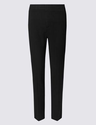 Офисные брюки слим со средней посадкой по линии талии