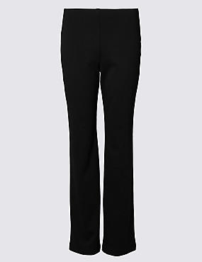 PLUS Slim Leg Trousers, BLACK, catlanding