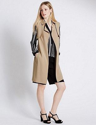 PETITE Belted Sleeveless Jacket, CREAM, catlanding