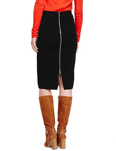 Back Zip Pencil Skirt | M&S