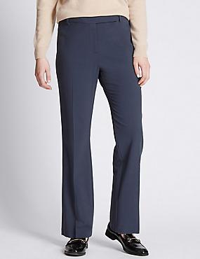 Bootleg Trousers, INDIGO, catlanding