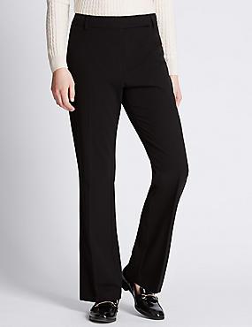 Slim Bootleg Trousers, BLACK, catlanding