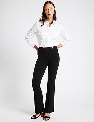 Bootleg Trousers, BLACK, catlanding