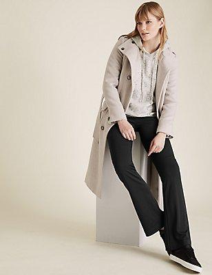 Jersey Standard Slim Boot-Cut Trousers, BLACK, catlanding