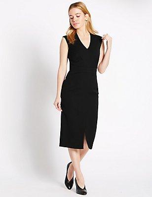 PETITE Sleeveless Shift Dress, BLACK, catlanding