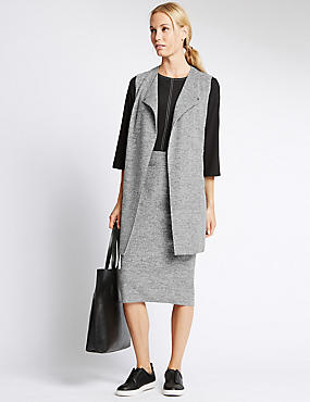 Tailored Fit Sleeveless Jackets, GREY, catlanding
