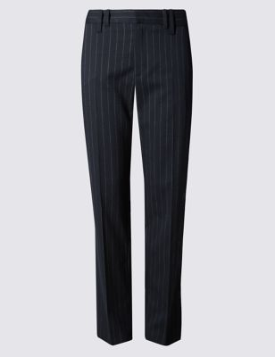 Прямые классические брюки в полоску Pinstripe от Marks & Spencer