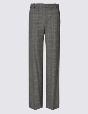 Классические широкие брюки в виндзорскую клетку M&S Collection T592916T