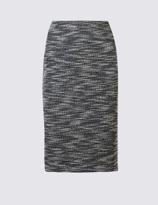 Текстурная твидовая юбка-карандаш M&S Collection T592919S