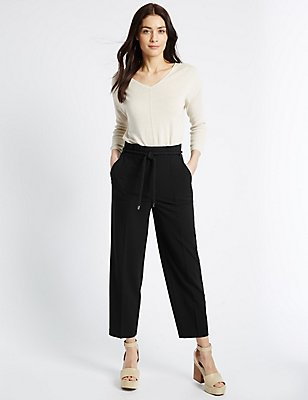 Slim Leg Trousers, BLACK, catlanding