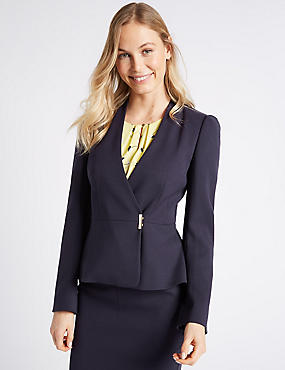 Double Breasted Jacket, NAVY, catlanding