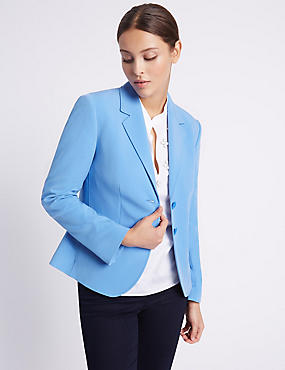 Patch Pocket 2 Button Blazer, FRESH BLUE, catlanding