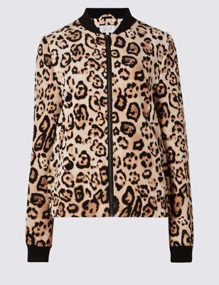 Куртка бомбер с леопардовым принтом Per Una T593018J