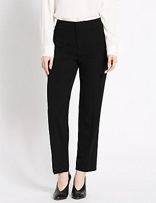 PETITE Slim Leg Trousers, BLACK, catlanding