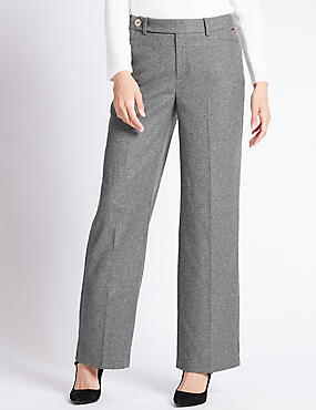 Rayna Wide Leg Trousers, GREY, catlanding