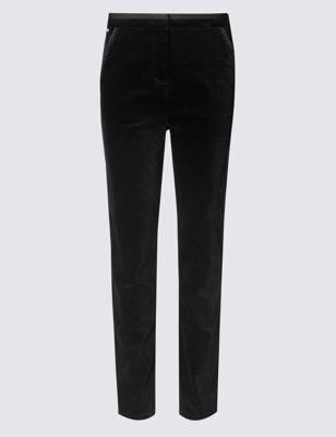 Узкие хлопковые брюки с отделкой Per Una T593517L
