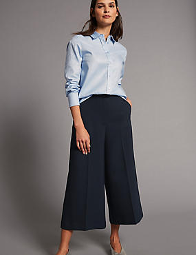 Cropped Culottes, NAVY, catlanding
