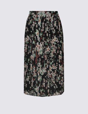 Плиссированная юбка с цветочным принтом M&S Collection T594012