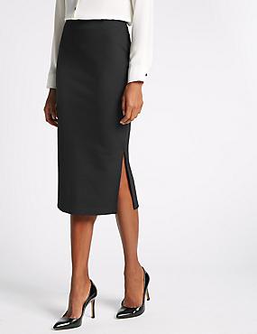 Midi Skirt, BLACK, catlanding