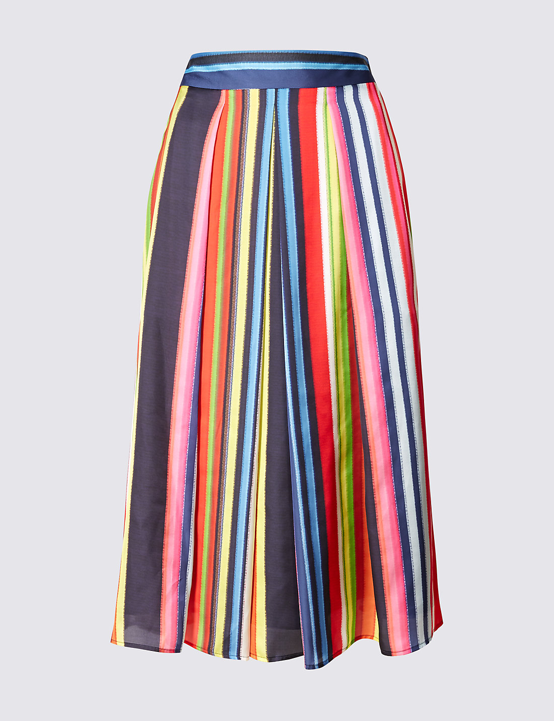 Striped A-Line Midi Skirt | M&S