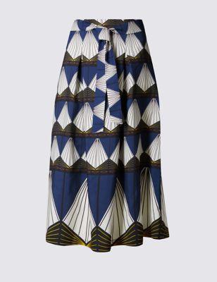 Юбка А-силуэта с алмазными печатями M&S Collection T594040
