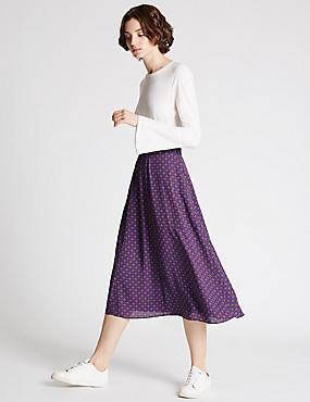 Smock A-Line Skirt, BLUE MIX, catlanding