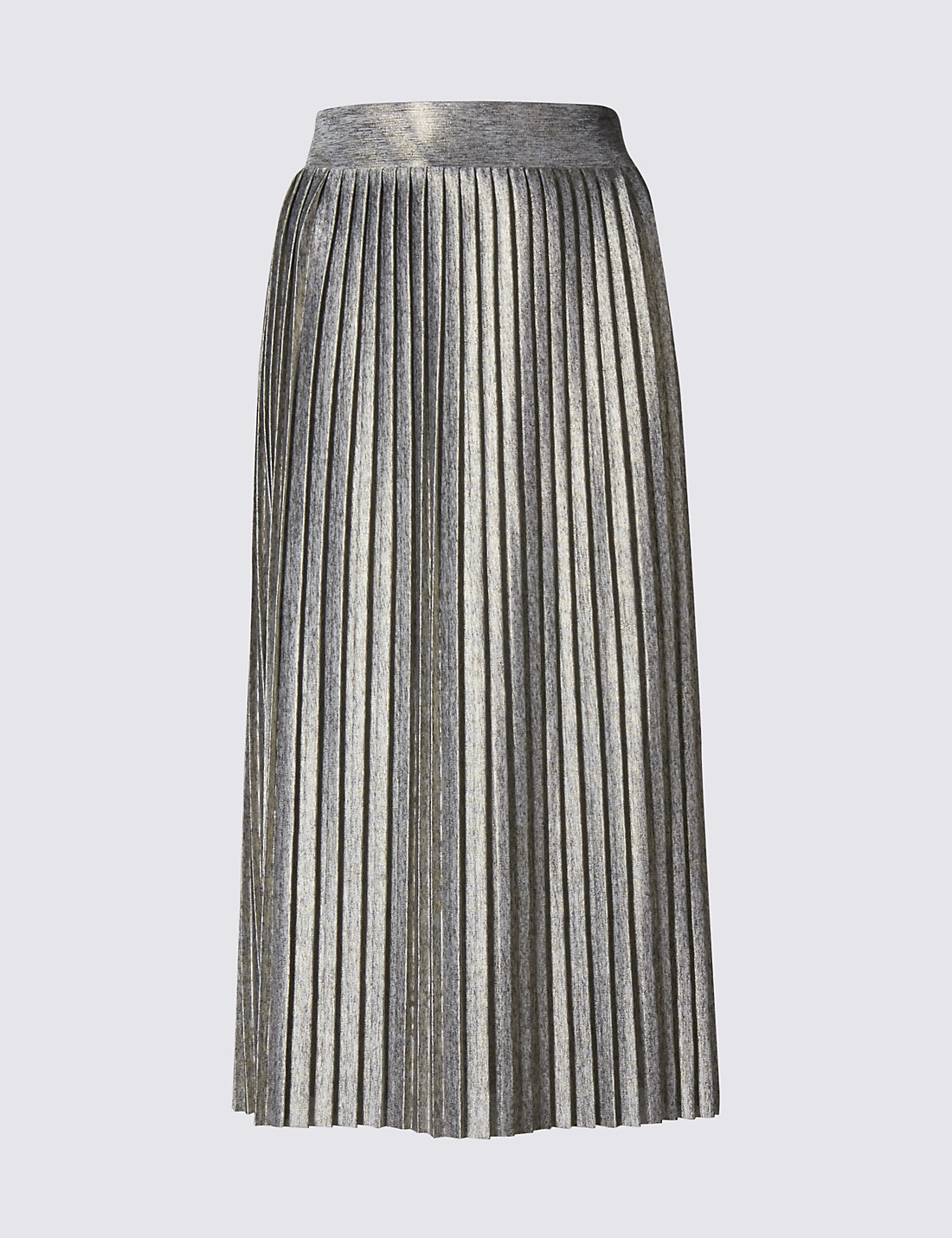 Metallic Pleated Midi Skirt | M&S